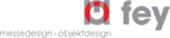 Logo Fey Messedesign, Objektdeign