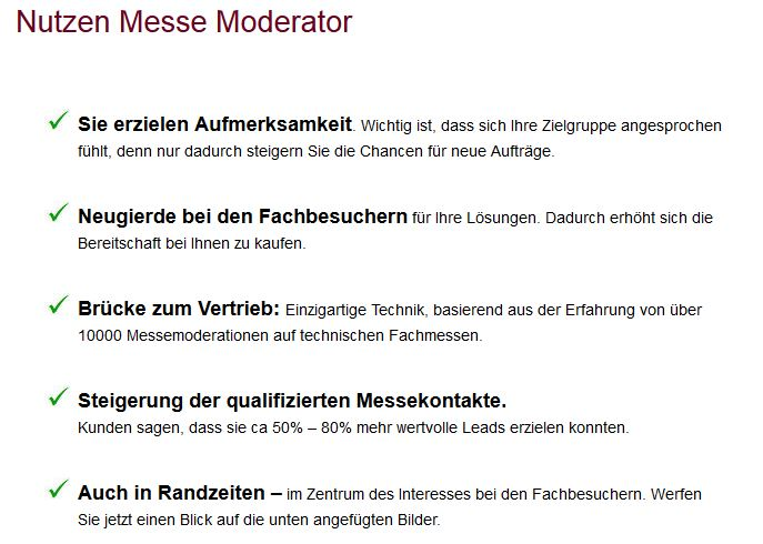 Frankfurt Moderator ISH IAA moldexpo